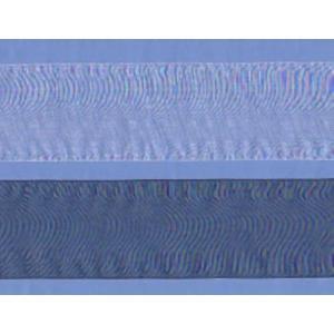 オーガンジーリボン(3.6cm巾・オフ/黒) laceya