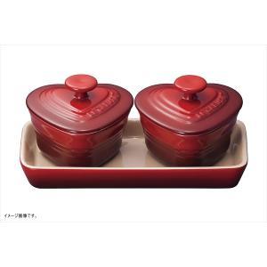ル・クルーゼ(Le Creuset) プチ・ラムカン・ダムール・セット チェリーレッド 910223-00-06 (日本正規販売品)|lachance