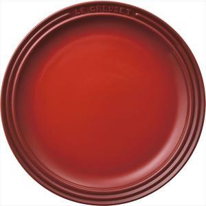 ルクルーゼ 皿 23cm チェリーレッド ラウンド プレート LC 910140-23-06 【日本正規販売品】|lachance