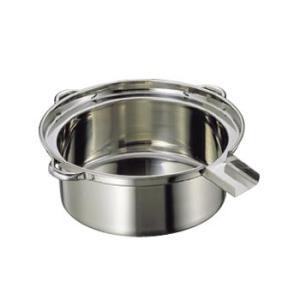 ゆで麺鍋 Cタイプ 18-8(ステンレス) 大 (φ500×185)|lachance