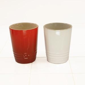 ル・クルーゼ(Le Creuset) ペア・ショート・タンブラー チェリーレッド+ホワイトラスター (日本正規販売品)|lachance