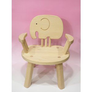 木のおもちゃ 子供椅子ひじ掛付(ぞう)ゾウさん|lachance