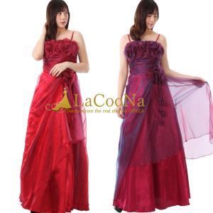 7144d8b1a89bc フラワーラインがデコルテを彩るAラインの姫ロングドレス 演奏会 舞台 衣装 ステージ衣装 パーティードレス 結婚式 二次会