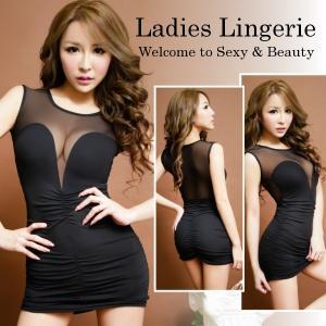 ナイトドレス セクシー レディース インナー ワンピース ブラック Sexy Lingerie