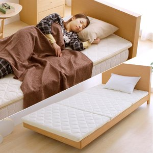 マットレス 折りたたみ シングル 三つ折り 寝具 エアリーマットレス アイリスオーヤマ エアリースムースマットレス MASMS-S|ladybird6353|10