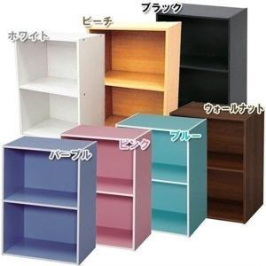 在庫処分価格★カラーボックス 2段 収納|ladybird6353