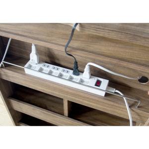 電話台 ルーター収納 送料無料 おしゃれ キャビネット 収納 ナチュラル 木製 シンプル コンセント収納 収納家具 収納棚 ファックス台 FAX台 幅60 IR-FX002BR|ladybird6353|04