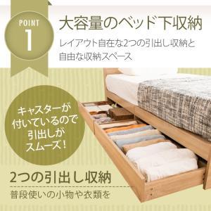 ベッド シングル 収納 収納付き 大容量 棚付 引出し付 引き出し付 コンセント付 寝具 収納付き  棚付き引出付きベッド|ladybird6353|03