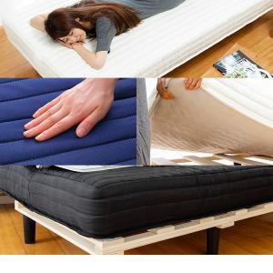 ベッド 脚付きマットレス 送料無料 マットレス付き シングル ベッドマットレスセット 圧縮梱包 19cm おしゃれ ウレタンマット ポケットコイル すのこベッド|ladybird6353|04