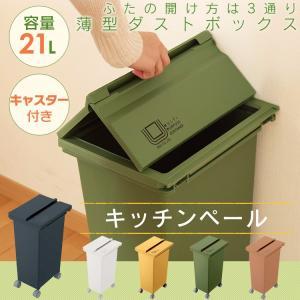 【単品】ゴミ箱 ごみ箱 ダストボックス ふた付き おしゃれ 北欧 キャスター付 CS2-20|ladybird6353