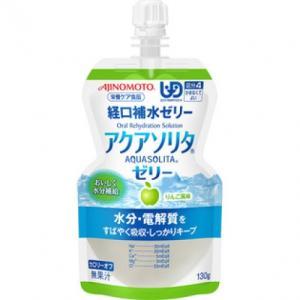 味の素 アクアソリタゼリー アップル(パウチ)130g※取り寄せ商品(注文確定後6-20日頂きます) 返品不可