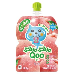 コカコーラ ミニッツメイド ぷるんぷるんQOO(クー) ピーチ味 125g×6個|ladydrugheartshop