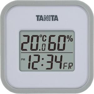 タニタ デジタル温湿度計 TT-558-GY グレー※取り寄せ商品(注文確定後6-20日頂きます) 返品不可|ladydrugheartshop