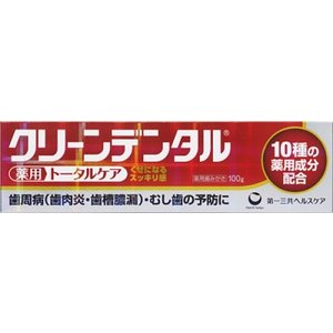 【医薬部外品】クリーンデンタル 100g|ladydrugheartshop