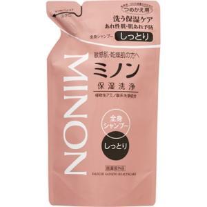 【医薬部外品】ミノン 全身シャンプー しっとりタイプ つめかえ用 380ml|ladydrugheartshop