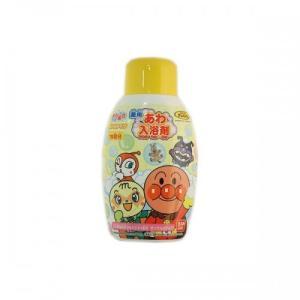 天然保湿性成分ヨモギエキ配合のアンパンマンのあわ入浴剤です。約15回分ボトル入。
