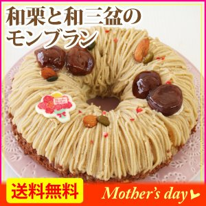 5/6-5/20お届けまで 母の日・和栗と和三盆のモンブラン...