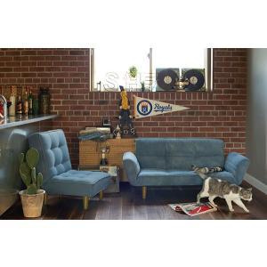 モリヨシ LuoDenimReclining 1P インテリア デザイナーズ家具 ラバーウッド リビング チェアー 椅子 イス 家具 新生活 デザの写真