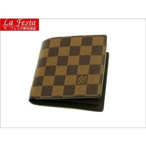 ルイヴィトン 2つ折り財布 ダミエ ポルトフォイユ・マルコ N61675 中古(新品同様)|lafesta-k