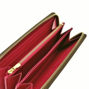 ルイヴィトン 長財布 モノグラム ジッピー・ウォレット フューシャ 箱 紙袋付き M41895 中古(新品同様【美品】)|lafesta-k|05
