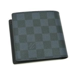 ルイヴィトン 2つ折り財布 ダミエ・コバルト ポルトフォイユ・マルコ 箱 紙袋付き N63213 中古(新品同様)|lafesta-k|02