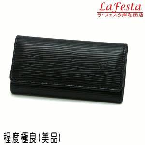 ルイヴィトン 4連キーケース エピ ミュルティクレ4 ノワール 箱付き M63822 中古(程度極良【美品】)|lafesta-k