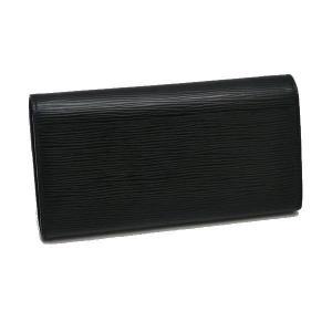 ルイヴィトン 長財布 エピ ポルトフォイユ・サラ ノワール 黒 箱付き M60582 中古(程度良)|lafesta-k|02
