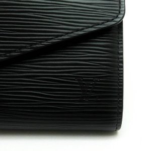ルイヴィトン 長財布 エピ ポルトフォイユ・サラ ノワール 黒 箱付き M60582 中古(程度良)|lafesta-k|05