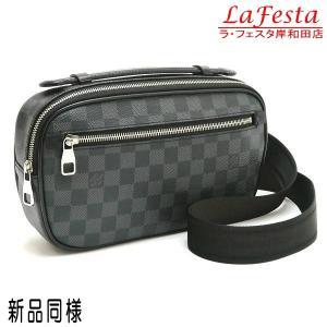 ルイヴィトン ボディバッグ ダミエ・グラフィット アンブレール  保存袋 紙袋付き N41289 中古(新品同様)|lafesta-k