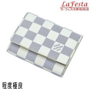 ルイヴィトン カードケース ダミエ・アズール アンヴェロップ・カルト ドゥ ヴィジット 箱付き N61746 中古(程度極良)|lafesta-k