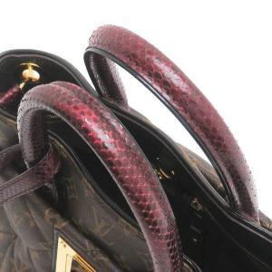 ルイヴィトン 2Wayバッグ モノグラム・エトワール エキゾチックトートMM パイソン オーストリッチ 保存袋付き N90311 中古(程度極良【美品】)|lafesta-k|06