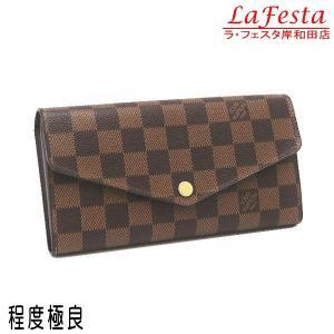 ルイヴィトン 長財布 ダミエ ポルトフォイユ・サラ 箱付き N63209 中古(程度極良)|lafesta-k