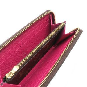 ルイヴィトン 長財布 モノグラム ポルトフォイユ・クレマンス ホットピンク 箱付き M42119 中古(程度極良)|lafesta-k|06