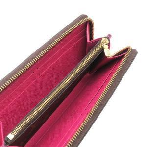 ルイヴィトン 長財布 モノグラム ポルトフォイユ・クレマンス ホットピンク 箱付き M42119 中古(程度極良)|lafesta-k|07