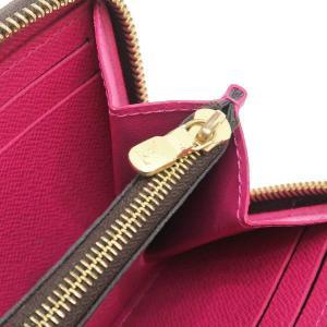 ルイヴィトン 長財布 モノグラム ポルトフォイユ・クレマンス ホットピンク 箱付き M42119 中古(程度極良)|lafesta-k|09