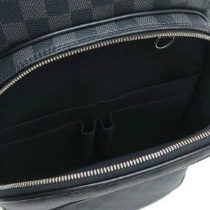 ルイヴィトン リュック ダミエ・グラフィット ミカエル 保存袋付き N58024 中古(程度極良【美品】)|lafesta-k|09