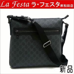 グッチ メッセンジャーバッグ GGスプリーム×レザー 322279 新品|lafesta-k