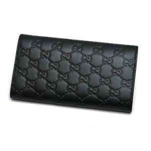 グッチ 2つ折り長財布 レザー ブラック 黒 箱付き 410100 新品|lafesta-k|02