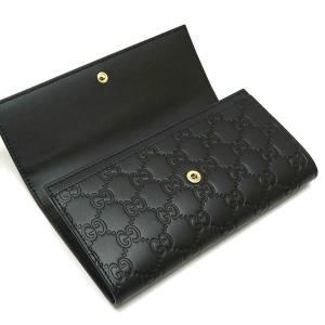 グッチ 2つ折り長財布 レザー ブラック 黒 箱付き 410100 新品|lafesta-k|03