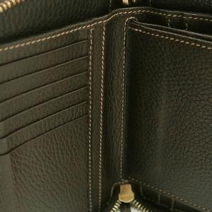 グッチ ラウンドファスナー財布 GGクリスタル×レザー ベージュ×ダークブラウン 420113 中古(程度極良)|lafesta-k|11