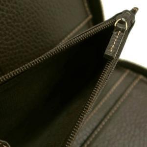 グッチ ラウンドファスナー財布 GGクリスタル×レザー ベージュ×ダークブラウン 420113 中古(程度極良)|lafesta-k|12