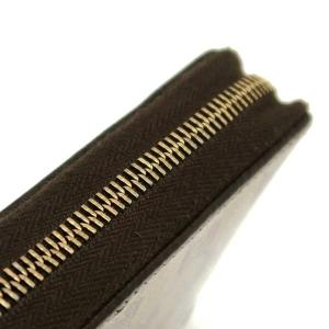 グッチ ラウンドファスナー財布 GGクリスタル×レザー ベージュ×ダークブラウン 420113 中古(程度極良)|lafesta-k|05
