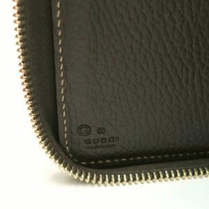 グッチ ラウンドファスナー財布 GGクリスタル×レザー ベージュ×ダークブラウン 420113 中古(程度極良)|lafesta-k|09