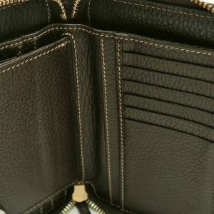 グッチ ラウンドファスナー財布 GGクリスタル×レザー ベージュ×ダークブラウン 420113 中古(程度極良)|lafesta-k|10