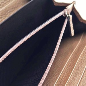 グッチ 長財布 レザー ピンク系シャンパンゴールド 258406 中古(程度極良【美品】)|lafesta-k|09