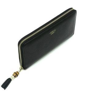 グッチ 長財布 レザー ブラック バンブータッセル 箱付き 232977 中古(程度極良)|lafesta-k|03