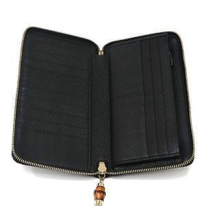 グッチ 長財布 レザー ブラック バンブータッセル 箱付き 232977 中古(程度極良)|lafesta-k|09