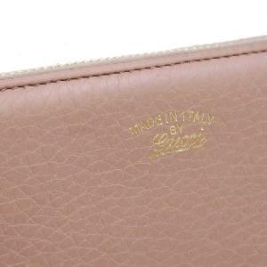 グッチ 長財布 ジップアラウンドウォレット レザー ローズベージュ バンブータッセル 箱付き 307984 中古|lafesta-k|05