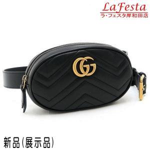 グッチ ウエストポーチ ベルトバッグ GGマーモント レザー ブラック 保存袋付き 476434 新品(展示品)|lafesta-k