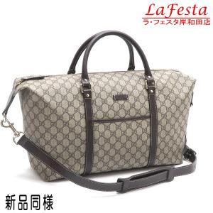 グッチ ボストンバッグ GGスプリームキャンバス 保存袋付き 246895 中古(新品同様)|lafesta-k